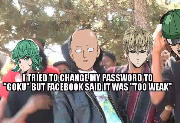 one punch man password meme