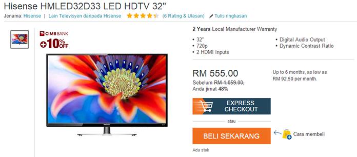 """beli Hisense 32"""" LED HD TV"""