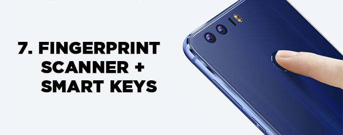 fingerprint dan smart keys pada honor 8